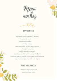 Menú Noches de Espai Les Panses