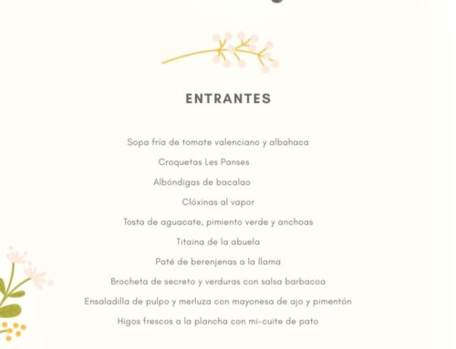Menú Noches 2019